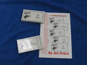 Business Card Magic Trick Anagramation Ebay
