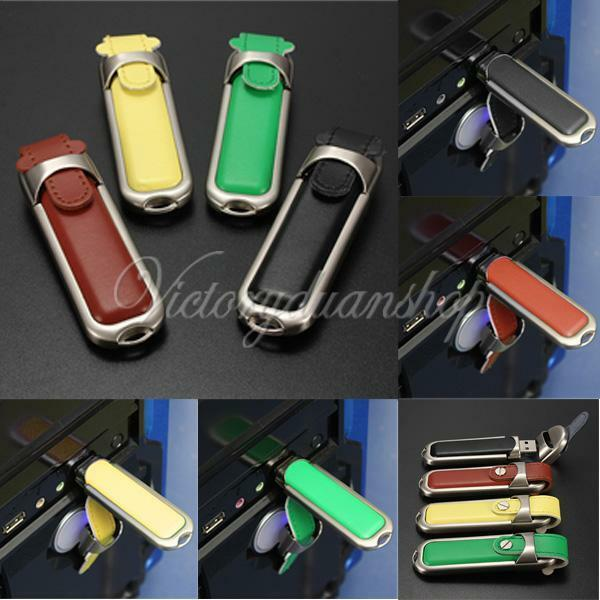 2/4/8/16/32GB Leather USB 2.0 Laptop Flash Memory Stick Drive Pen U Disk Storage