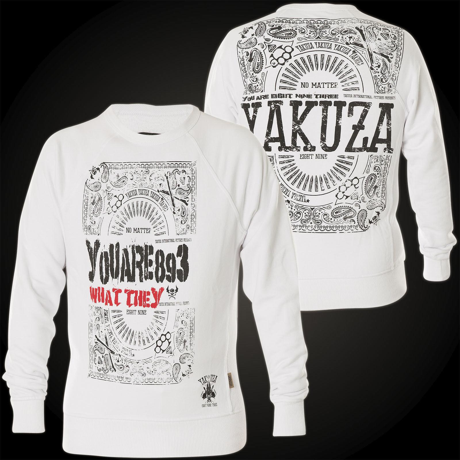 YAKUZA Sweatshirt No Matter Jumper PB-10030 White white Sweatshirts