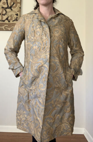 Vintage Toile Coat Pavone Florence Made In Italy W