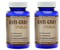 2 Bottles - Anti Gray Hair Catalase Saw Palmetto Horsetail - Highest Quality