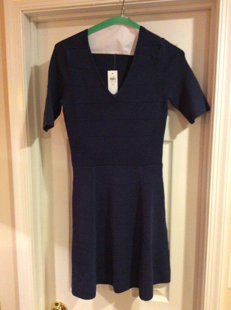 NWT NEW WOMENS  ANN TAYLOR    DRESS Navy XSMALL  149 102fe1