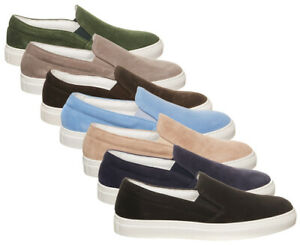 Scarpa-PANTOFOLA-D-039-ORO-donna-sneakers-SLIP-ON-donna-camoscio-pelle-made-in-Italy