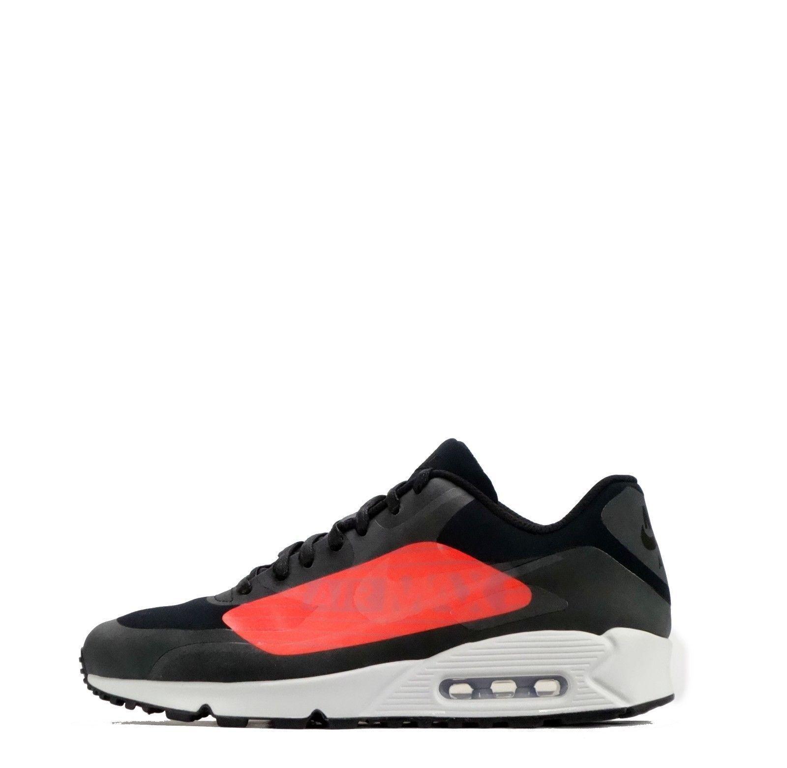 Nike AIR MAX 90 Big Logo Uomo Scarpe da ginnastica (/EU 45.5/US 11.5) Nero Nuovo di Zecca