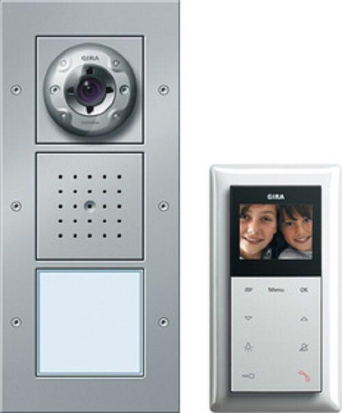 Gira 049545 Video Türkommunikation Video Sprechanlage Farbe Alu