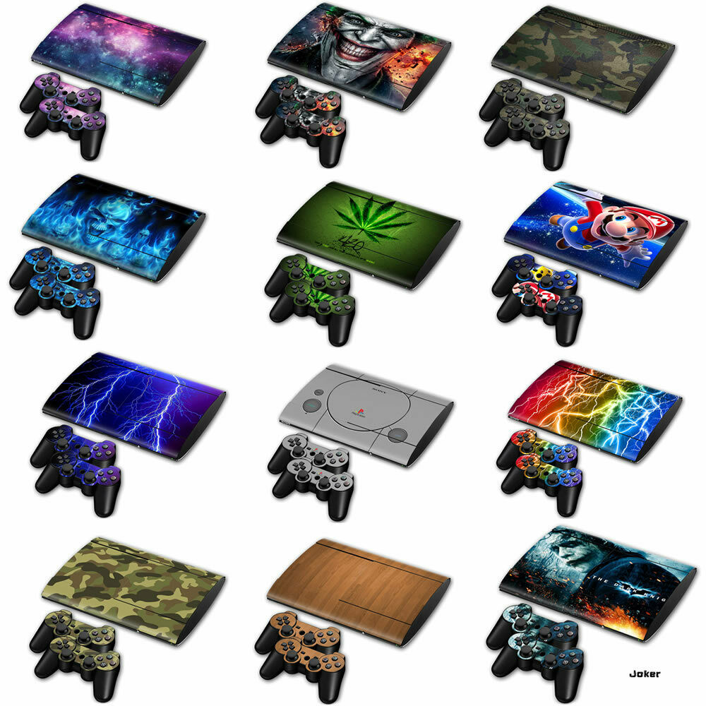 PS3 Super Slim (Slim 4000) Textured Skins -Full Body Wrap- decal sticker cover
