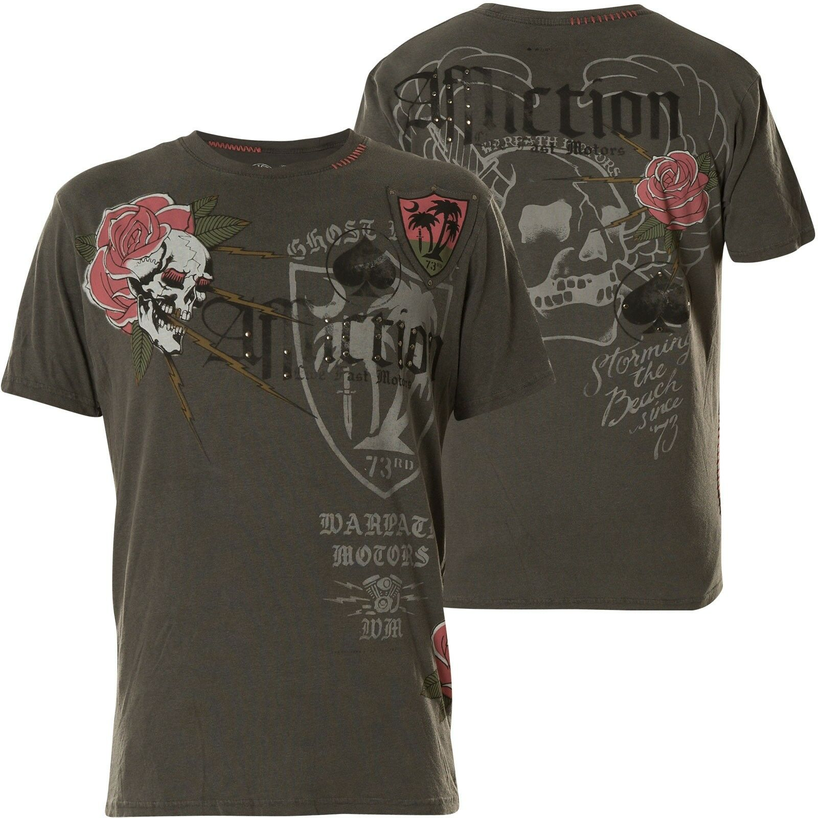 AFFLICTION T-Shirt The Beach grey T-Shirts