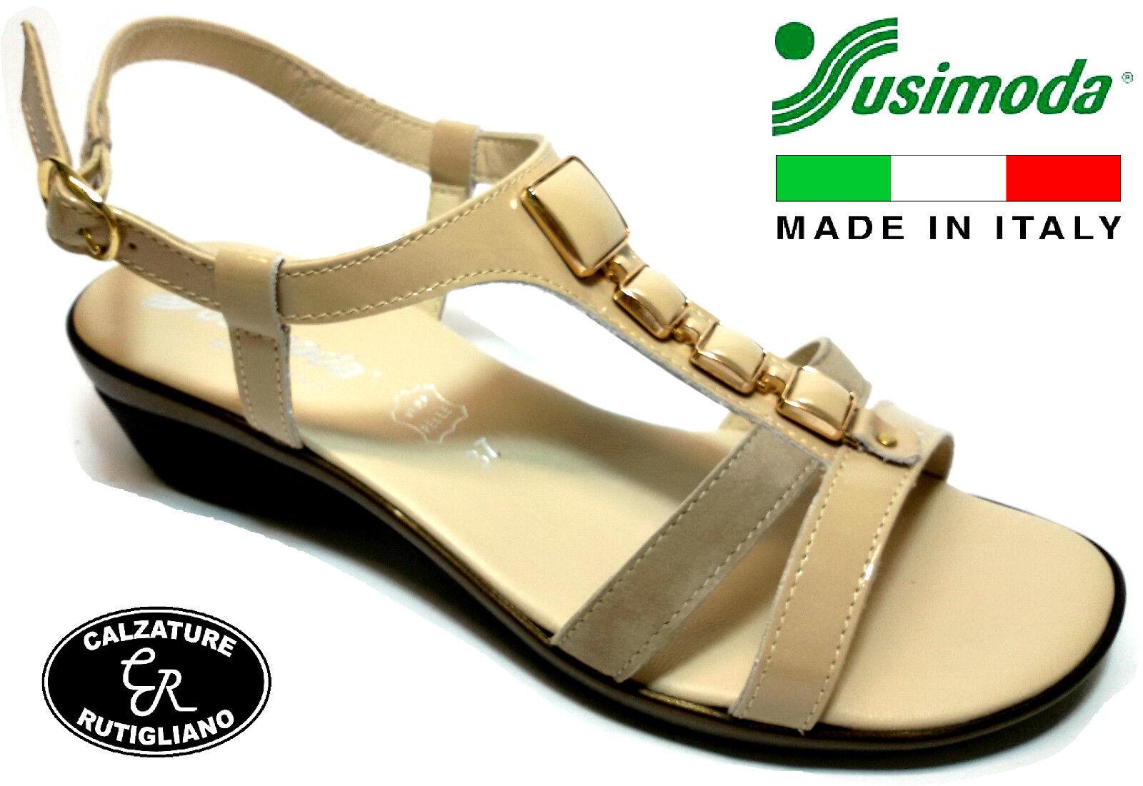 SUSIMODA 254426 chaussures femmes SANDALI LINEA COMODA VERNICE PELLE MADE IN ITALY