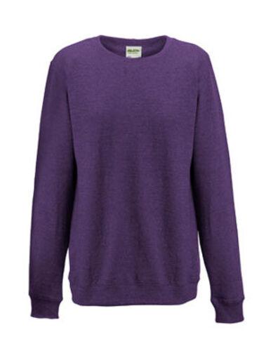 Damen Sweatshirt Pullover leicht Rundhals meliert Gr.XS-XL 5 Farben JH045