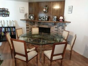 Details About Vintage John Mcguire Octagonal Dining Table W 8 Louis Xvi Chairs