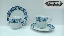 Antiguo juego de cafe/te de fina porcelana Inglaterra. Fine porcelain.