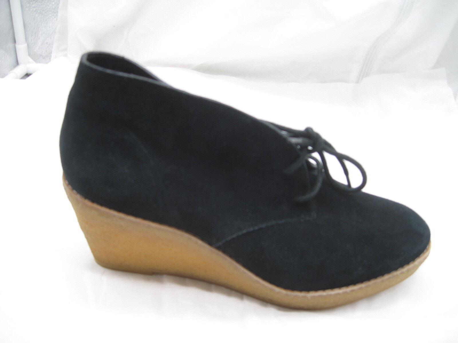 Cole Haan 9B en Daim Noir Compensé Bottillons bottes bottines femmes chaussures D409985
