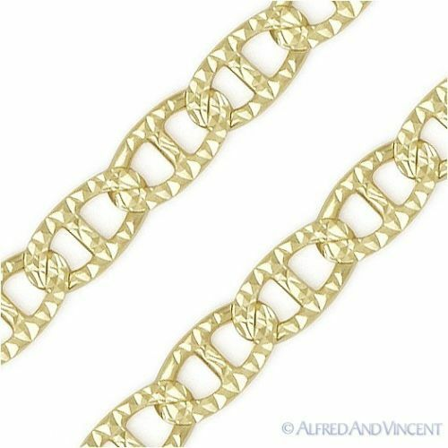 2.8mm Marina Mariner Link Sterling Silver w 14k Yellow Gold Italy Chain Necklace