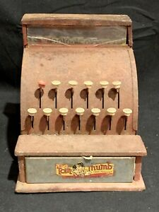 Vintage Tom Thumb Cash Register 1950s Fully Functioning.. GREAT PATINA