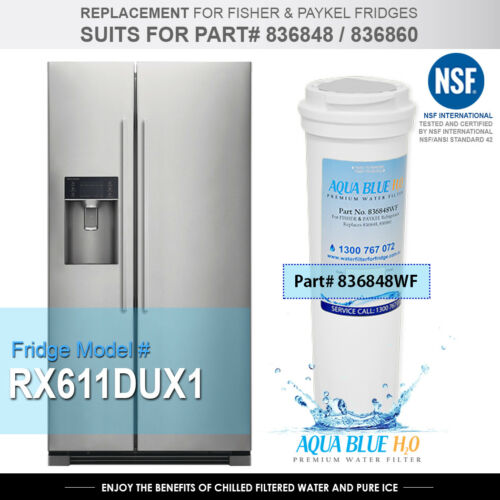 3X Fisher /& Paykel 836848 Premium Quality Replacement  Water Filter