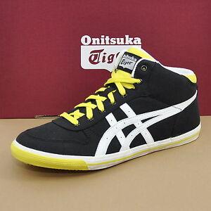 ASICS-Onitsuka-Tiger-AARON-MT-GS-Sneaker-Schuhe-Schwarz-Weiss-Gelb-C4B0N-9000