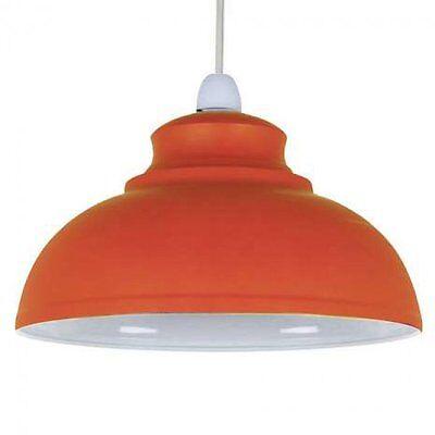 Shabby Chic Orange  Dome Light shade Light Pendant New