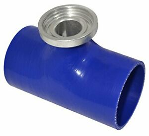Universal Type Rs//S Blue 2.5 Turbo Charger Silicone Coupler Tube Hose Pipe Blow Off Valve Bov Flange Adapter