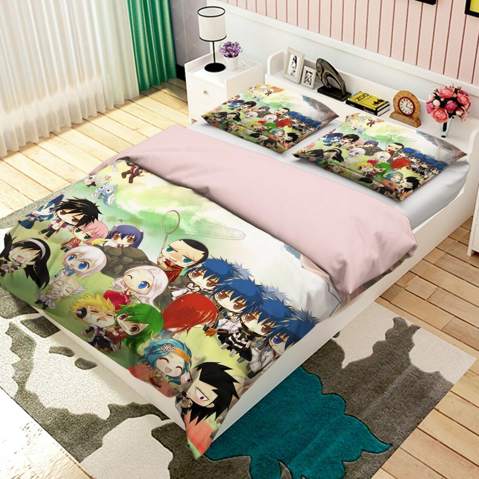 3D Fairy Tail Zeichen M399 Japan Anime Bett Kissenbezüge Bettbezug Angelia