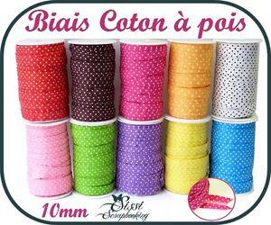RUBAN-GALON-BIAIS-COTON-A-POIS-SCRAPBOOKING-BRACELET-BIJOUX-COUTURE-10mm-20mm