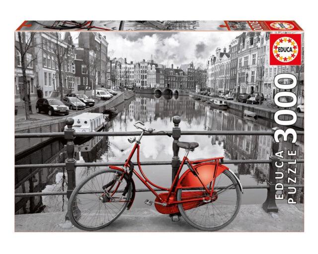Educa 16018. Bici de Amsterdam .Puzzle de 3000 piezas. 120x85cm