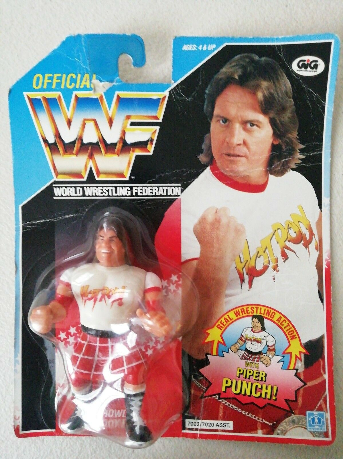 WWF World Wrestling Federation Rowdy Roddy Piper Hasbro il barbiere
