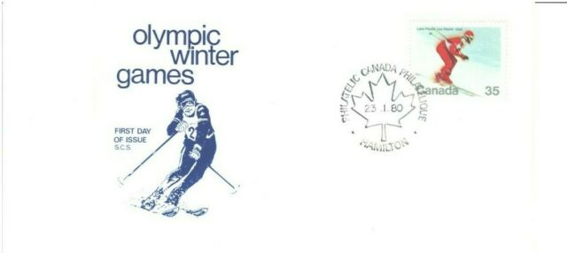 OLYMPIC WINTER GAMES, LAKE PLACID, 1980 FDI,  S.C.S. Cachet, As per Scan