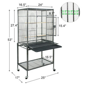 Beyondfashion 68 Bird Cage Large Play Top Bird Parrot Finch Cage Macaw Cockatoo Pet Supplies