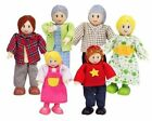 Hape Happy Family Dolls - Caucasian E3500 6 Pcs Age 3 Years Wooden People