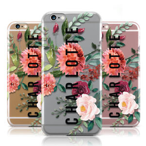 0b102d97dc Image is loading DYEFOR-PERSONALISED-SIDE-NAME-amp-CLEAR-FLORAL-PHONE-