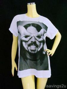 Foo-Fighters-T-shirt-DAVE-GROHL-Grunge-ROCK-S-M-L-COTTON-Unisex-White-Music