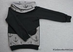 Hoodie-Sweat-Pullover-Handmade-Anker-Jungen-68-74-80-86-92-98-104-110-116-122