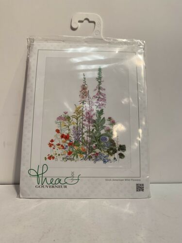 """Thea Gouverneur Counted Cross Stitch Kit /""""American Wildflowers/"""" 554 .NEW !!"""