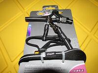 Rogz Catz 1/4-inch Alleycat Reflective 6-feet Lead Adjustable H-harness ,x-s