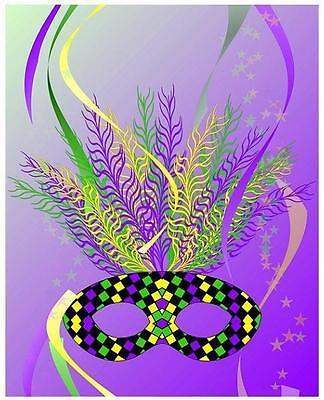 Stars and Confetti Iron on Mardi Gras Applique Patch