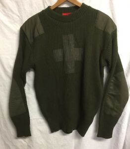 ANDREW-CHRISTAIN-Military-Style-Khaki-Jumper-Army-Commando-Pullover-Crew-Neck-M