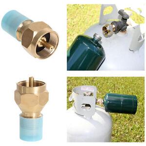 Outdoor Propane Refill Adapter Lp Gas Cylinder Tank Coupler Heater Camping Hunt