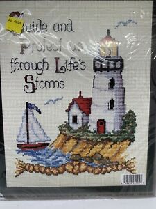 Cross Stitch The LightHouse Embroidery Kit Crafts New Old Stock