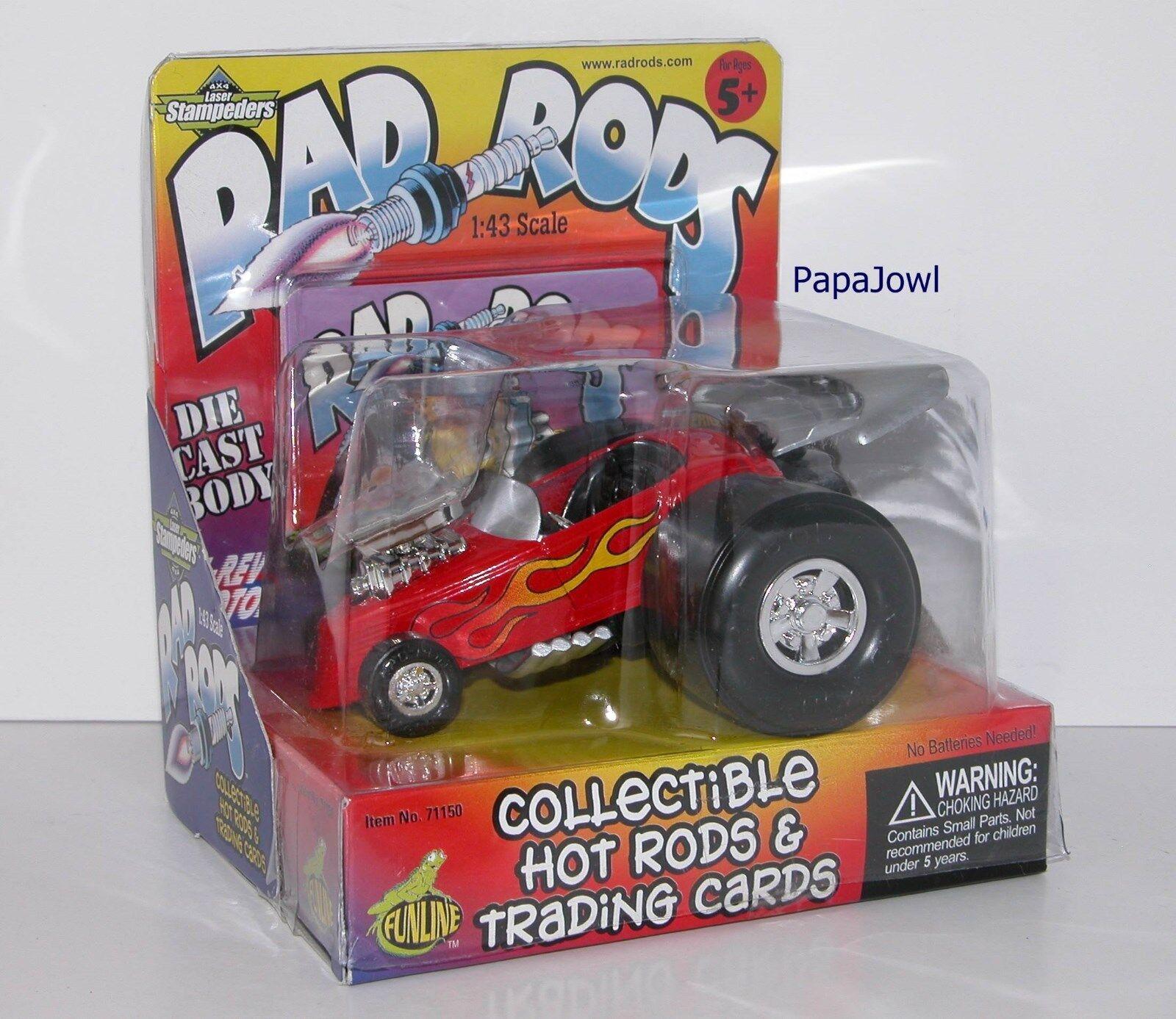 Rat Fink Rad Varillas Stampeders muscular máquinas Ford Roadster Roadster Roadster por Funline escala 1 43 9fadd9