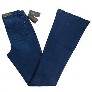 Robert-Rodriguez-Beso-Flared-Trouser-Jeans-Mykonos-Blue-Denim-Stretch-Size-26