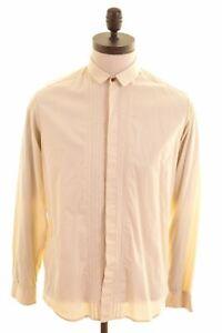Diesel-Herren-Shirt-Medium-gelb-gestreift-Baumwolle-schwarz-gold-nf04