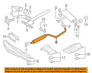 Rear Muffler For 2002-2005 VW Jetta 1.8L 4 Cyl AWP Turbocharged GAS 2003 K716XF