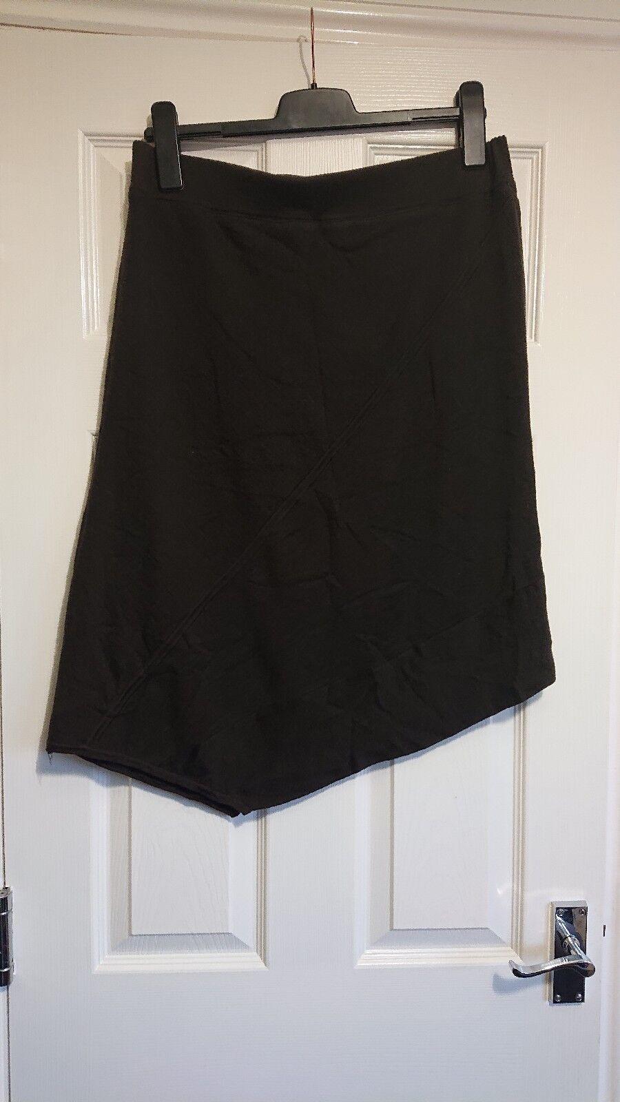 NITYA Merino Wool Brown Skirt Size 44 Autumn Winter Lagenlook Waist 32 -40
