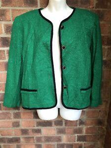 Giacca brillante misto in 16 verde taglia blazer Savannah lana qrBvzq