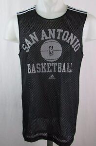 e68e71d04 San Antonio Spurs Men s Small Lined Mesh Practice Jersey NBA adidas ...