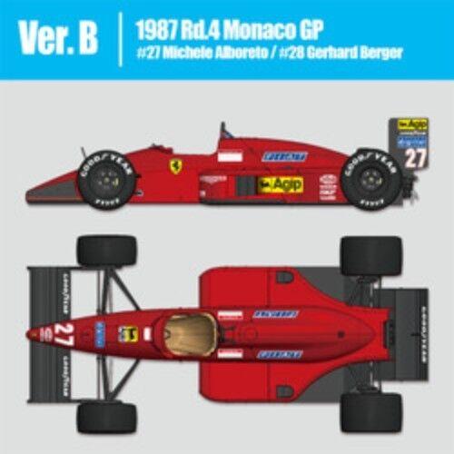 Mfh 1/12 Ferrari F187 Ver.b : 1987 Rd.4 Monaco Gp Plain Materiale Kit Dal