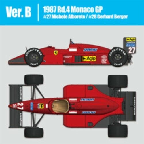 Mfh 1 12 Ferrari F187 Ver.b   1987 Rd.4 Mónaco Gp Malti Material Kit de Japón