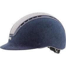 Uvex Reithelm suxxeed glamour blue-silver Swarovski blau silber Veloursimitat