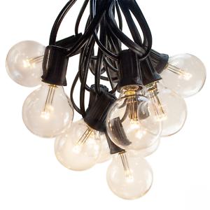Del G40 Blanc Chaud Patio Extérieur Globe String Lights (25', 50' Et 100' Longueurs)-afficher Le Titre D'origine Effet éVident