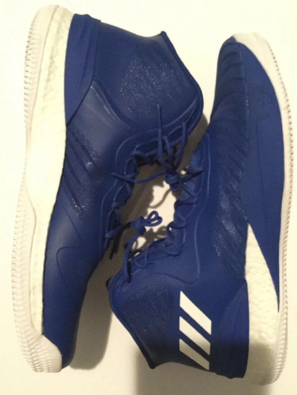 Adidas Mens D pink 8 Basketball Derrick Size 18 CQ1621 Boost bluee White High